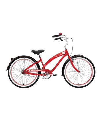 Red Hello Kitty 26'' Wheel Retro Bicycle