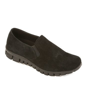 Black Suede Winol Slip-On Shoe
