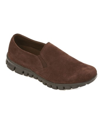 Brown Suede Winol Slip-On Shoe - Women