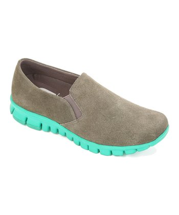 Gray & Green Winol Slip-On Shoe