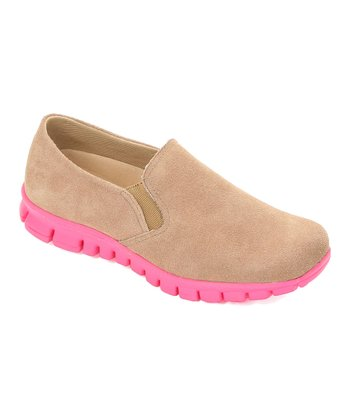 Sand & Pink Winol Slip-On Shoe
