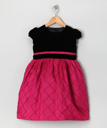 Pink Pin Tuck Cap-Sleeve Dress - Infant, Toddler & Girls