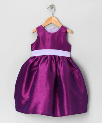 Purple & Lavender Dress - Infant, Toddler & Girls