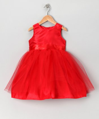 Red Ballerina Tulle Dress - Toddler