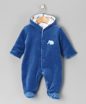 Blue Elephant Velour Bunting - Infant