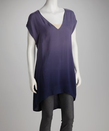 Nombre Blue Ombre V-Neck Tunic