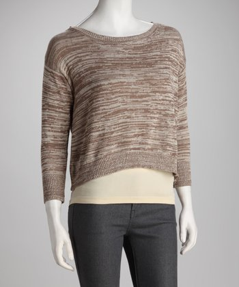 Putty Crop Sweater