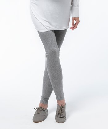 Gray Melange Taupo Maternity Leggings
