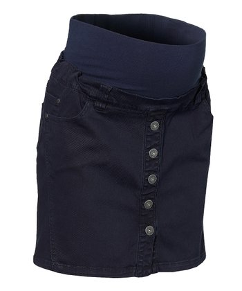 Navy Cooper Maternity Skirt