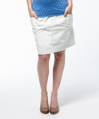 Light Wash Widgeon Maternity Denim Skirt