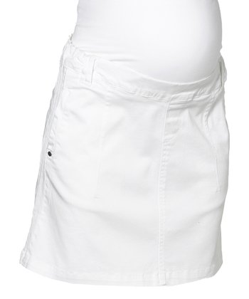 White Blenheim Maternity Skirt