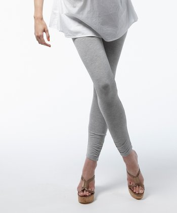 Gray Melange Oban Maternity Leggings