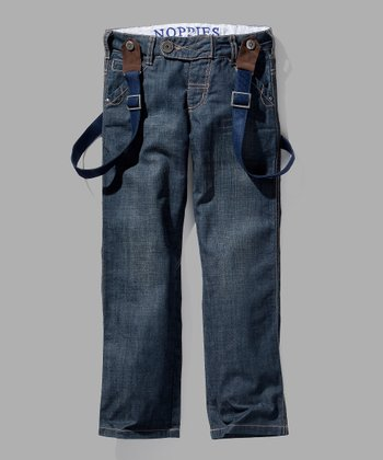 Light Wash Arthur Jeans & Suspenders - Toddler & Boys