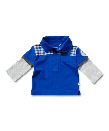 Blue Layered Polo - Infant