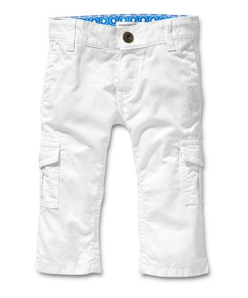 White Dario Cargo Pants - Infant