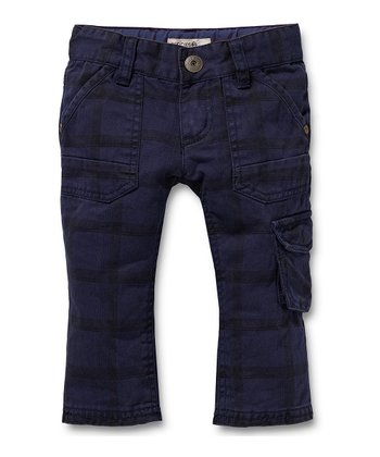 Navy Plaid Pants - Infant & Toddler