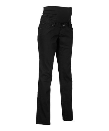 Black Over-Belly Chelsea Maternity Jeans