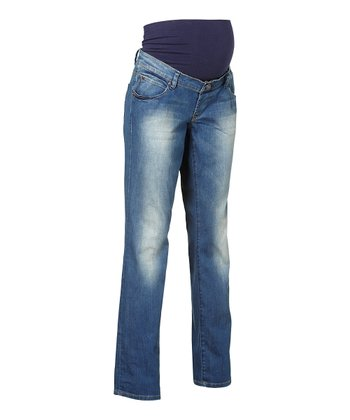 Stone Wash Over-Belly Chelsea Maternity Jeans