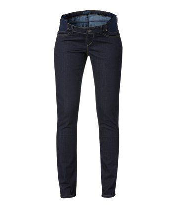 Dark Blue Jade Under-Belly Maternity Skinny Jeans