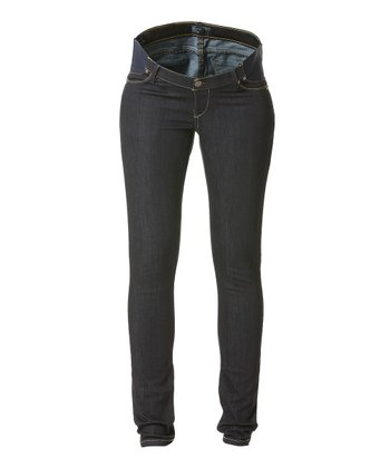 Black Pixie Under-Belly Maternity Skinny Jeans