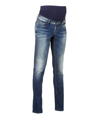 Used Wash Over-Belly Peaches Maternity Jeans