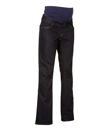 Dark Wash Over-Belly Kimberly Maternity Flare Jeans