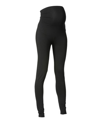 Black Over-Belly Lely Maternity Leggings