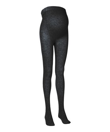 Black Knit Maternity Tights