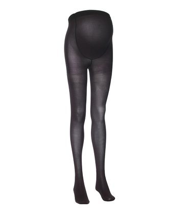 Black 60-Denier Maternity Tights