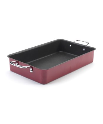 Red Nonstick 17.25'' Roaster