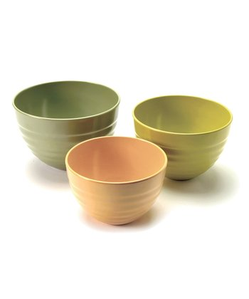 Bamboo Ribbed Bowl Set