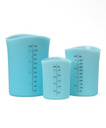 Blue Silicone Measuring Cup Set