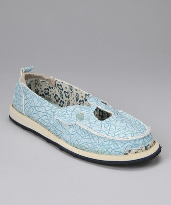 Blue Belle Canvas Flat - Women