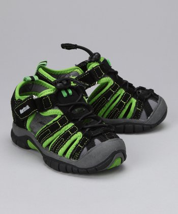 Black & Green Congo Closed-Toe Sandal