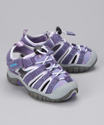 Purple Congo Closed-Toe Sandal - Kids