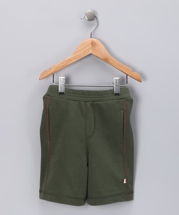 Olive Organic Shorts - Infant & Toddler