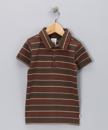 Nosilla Organics Brown Stripe Organic Polo - Infant & Toddler