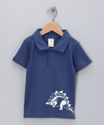 Nosilla Organics Cornflower Dino Organic Polo - Infant & Toddler