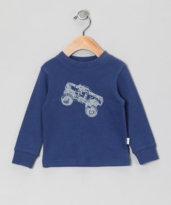 Navy Truck Organic Sweatshirt - Infant & Toddler
