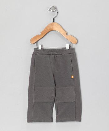 Charcoal Gray French Terry Pants - Infant