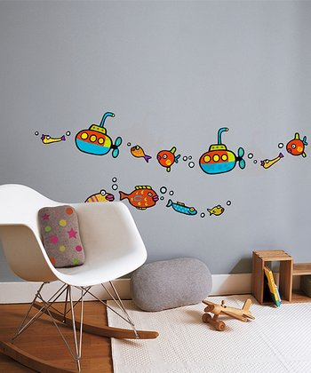 Submarine Wall Decal Set