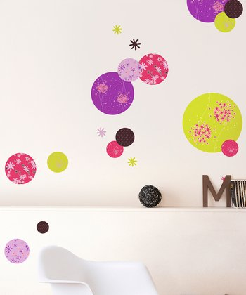 Disk Wall Decal Set
