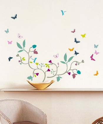 Poppy Blossom Wall Decal Set