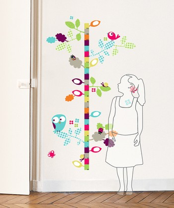 Bird Growth Chart Wall Decal Set