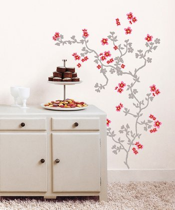 Cherry Tree Wall Decal Set