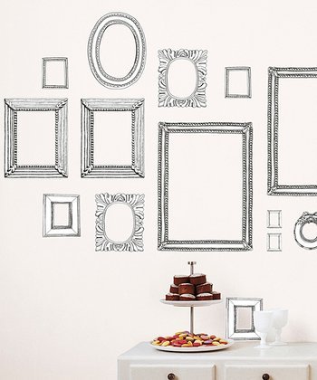 Gray Frame Wall Decal Set