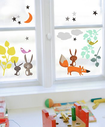 Animals & Tales Window Cling Set