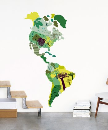 Map Wall Decal Set