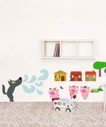Three Little Pigs Wall Decal Set
