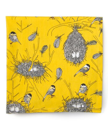 Yellow Bird's Nest Napkin - Set of Four